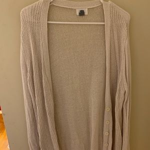 White old navy cardigan